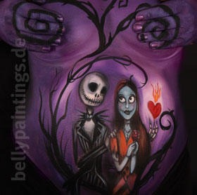 Bellypainting Jack and Sally