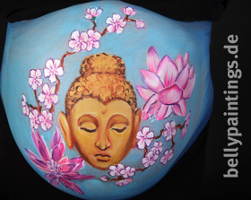 "Bellypainting ""Buddha"""