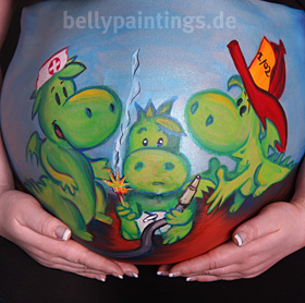 Bellypainting Grisu
