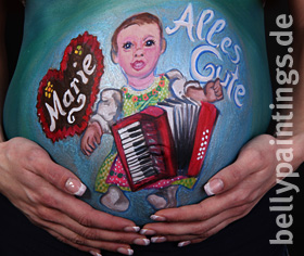 "Bellypainting ""Baby with accordeon"""