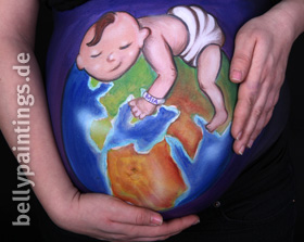 Bellypainting and planet Earth