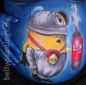 Bellypainting Minion Leon