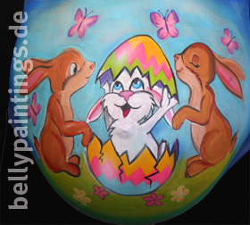 bellypainting Osterhase