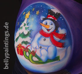 bellypainting Schneekugel